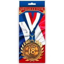 Médaille tricolore pour anniversaire 18 ans