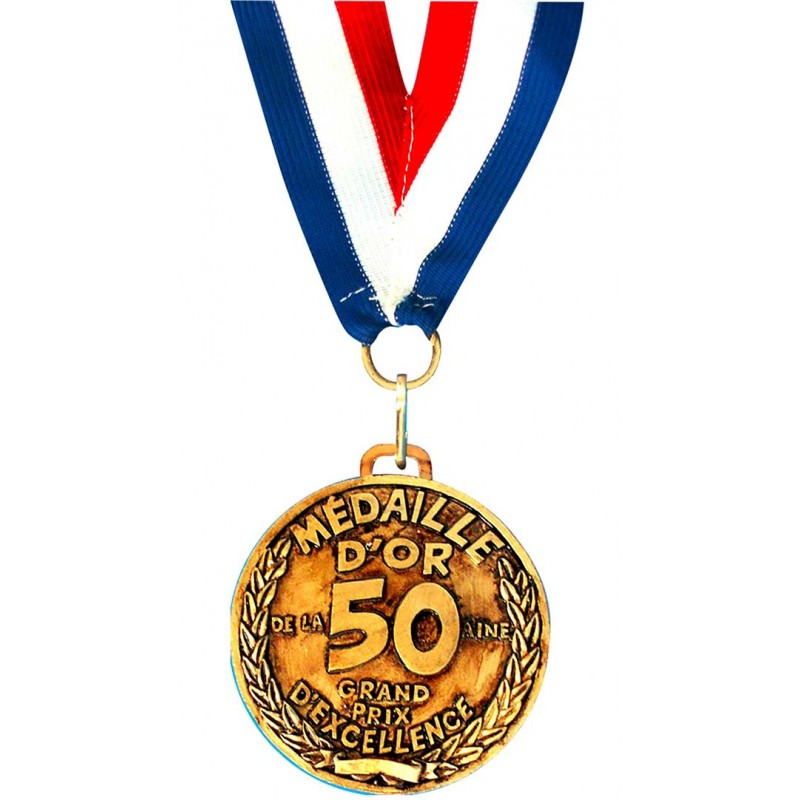 Belle médaille d'anniversaire 50 ans