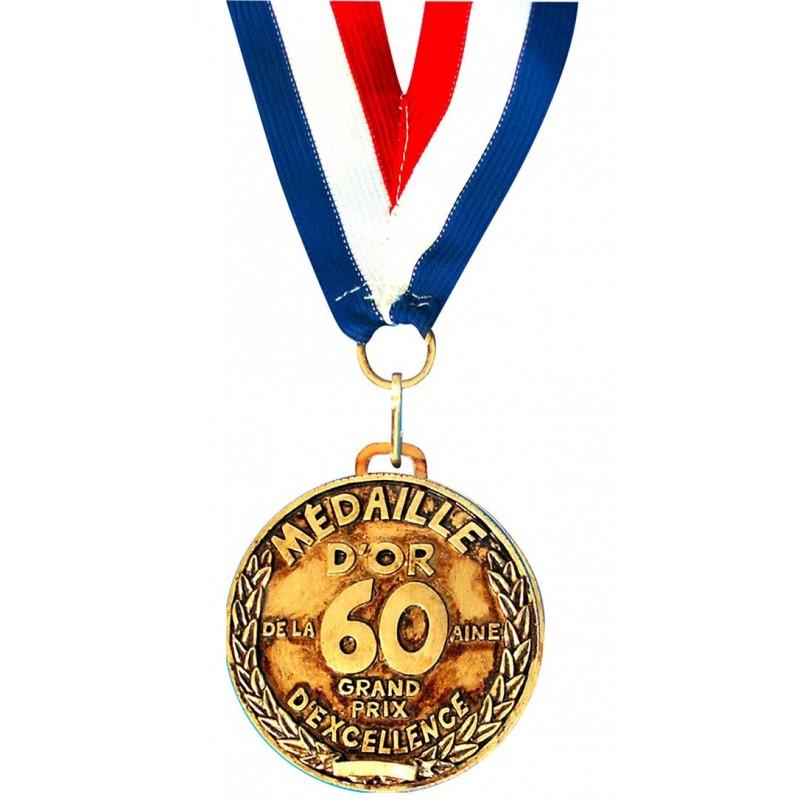 Médaille dorée pour anniversaire 60 ans