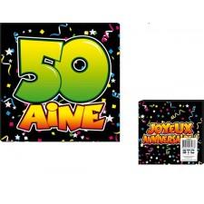 Serviettes de table d'anniversaire 50 ans en papier