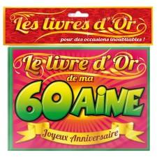 Livre d'or pour fête d'anniversaire 60 ans