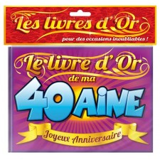 Livre d'or pour anniversaire 40 ans