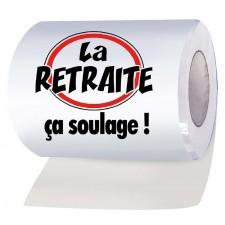 Rouleau de papier toilettes retraite
