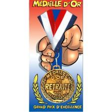 Médaille d'or pour départ à la retraite