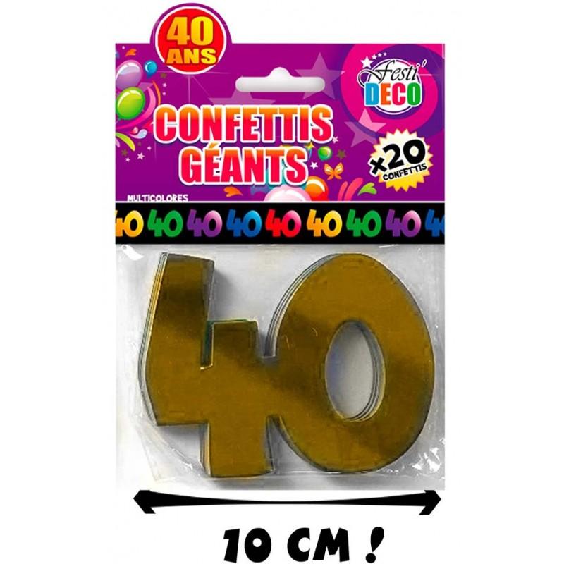Confettis de table pour anniversaire 40 ans