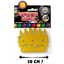 Confettis géants en forme de gâteaux d'anniversaire