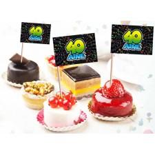 Pics décoratifs pour amuse-bouches ou gâteau d'anniversaire 40 ans