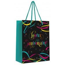 Petit pochette cadeau joyeux anniversaire colorée