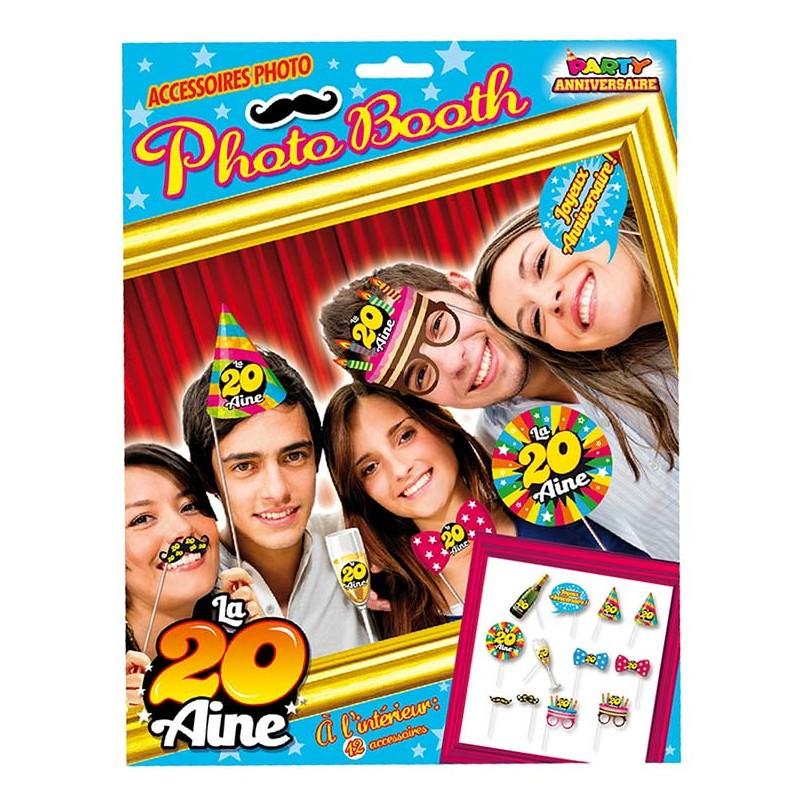 Pack de photo booth spécial anniversaire 20 ans