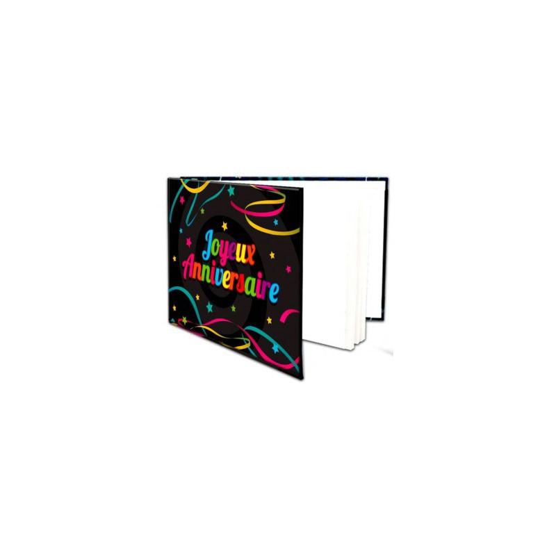 Livre d'or joyeux anniversaire coloré