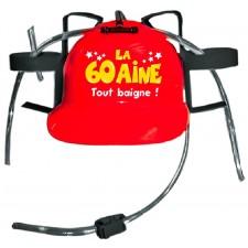 Cadeau humoristique casque anti-soif 60 ans spécial anniversaire
