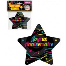 Confettis de table joyeux anniversaire colorés en forme d'étoiles