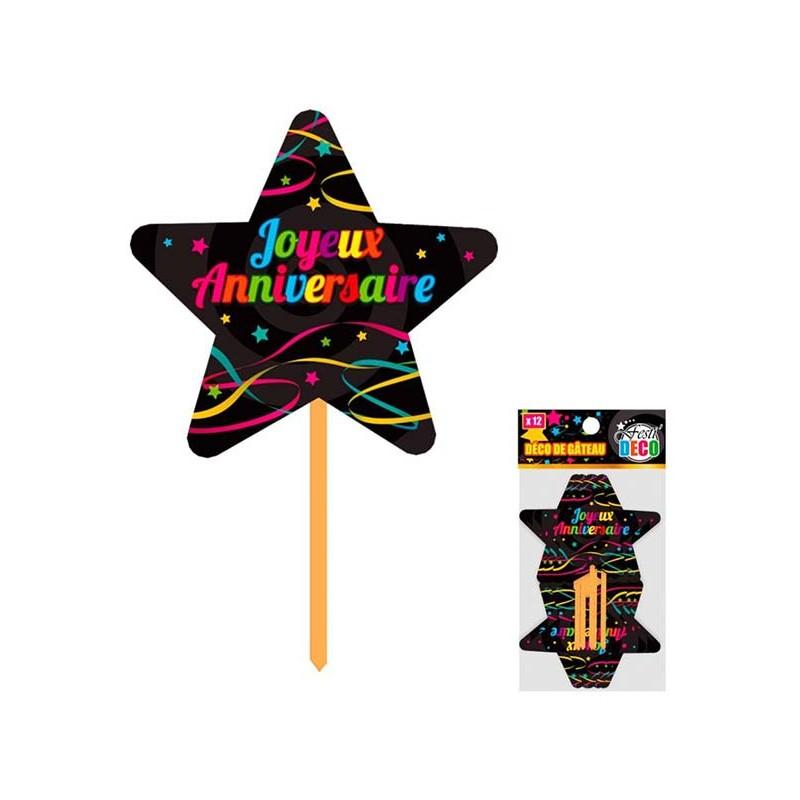 Pics décoratifs pour décoration de gâteau d'anniversaire ou d'amuse-bouches