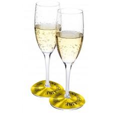 Marque-verres couleur or pour anniversaire