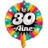 Ballon en alu 30 ans gonflable à l'hélium