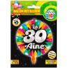 Ballon à gonfler de 45 cm pour anniversaire 30 ans
