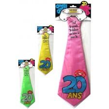 Cravate anniversaire 20 ans humoristique