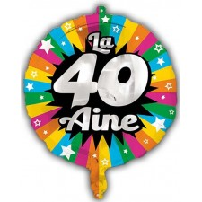 Ballon d'anniversaire 40 ans en alu gonflable à l'hélium