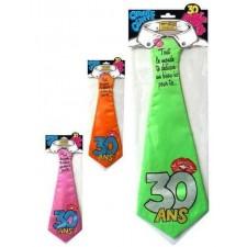 Cravate anniversaire 30 ans marrante
