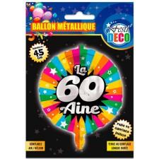 Ballon à gonfler pour anniversaire 60 ans