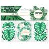 Confettis de table en carton pour anniversaire sur le thème tropical