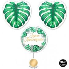 Paquet de confettis décoratifs en carton pour décorer un table d'anniversaire thème tropical