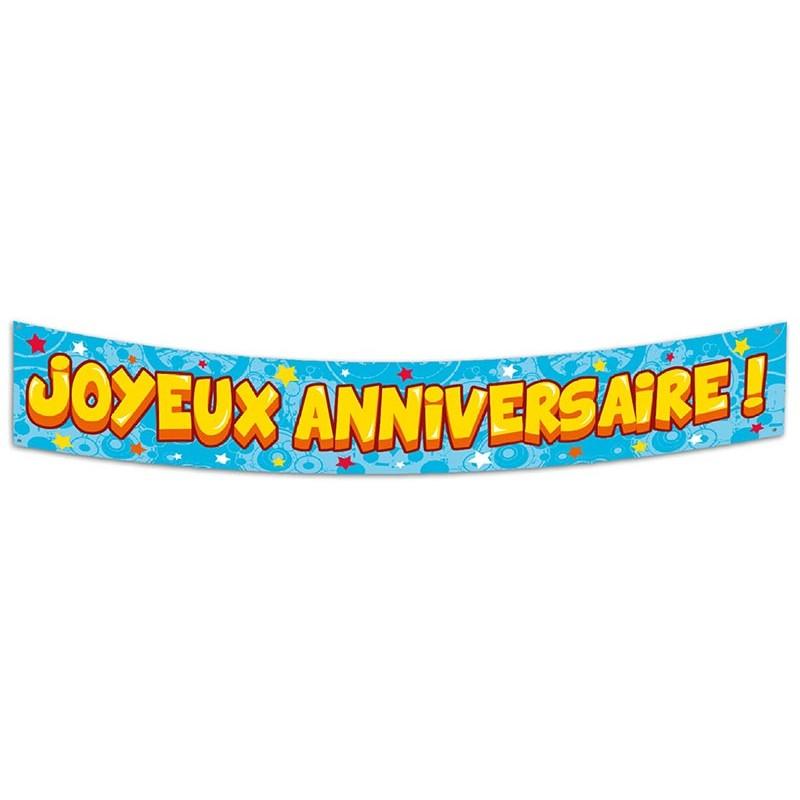 Grande banderole Joyeux anniversaire