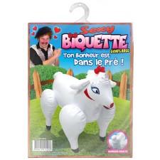 Chèvre humoristique gonflable idéal pour cadeau EVG ou anniversaire
