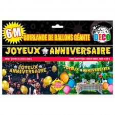 Grande guirlande anniversaire composée de ballons couleur or idéal en décoration