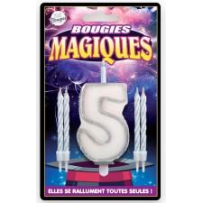 Bougie magique d'anniversaire chiffre 5