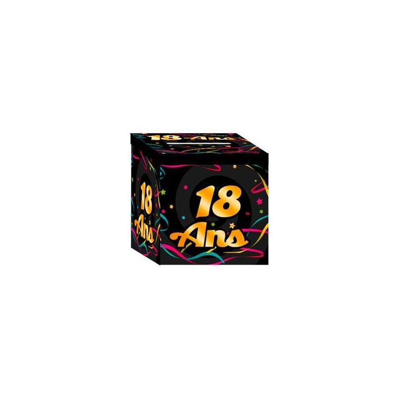 Urne colorée pour anniversaire 18 ans