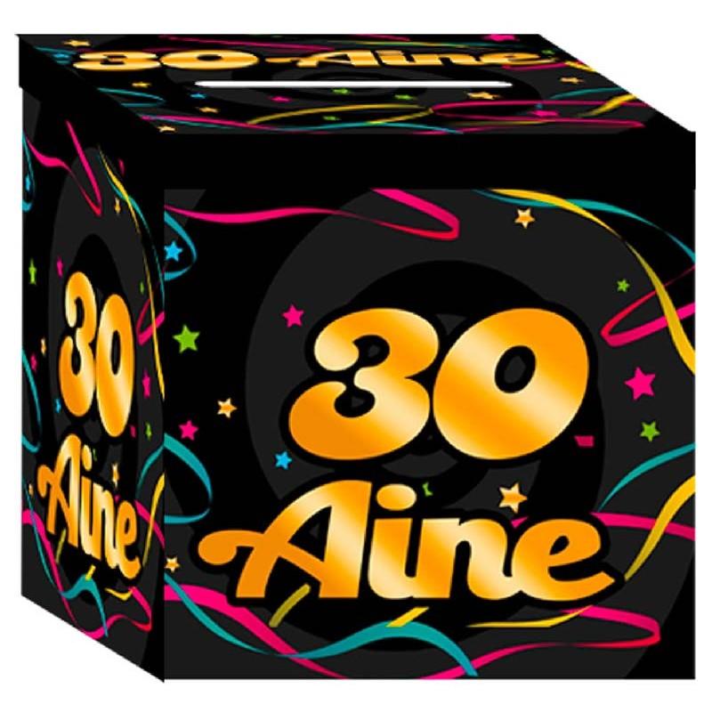 Urne colorée en carton pour anniversaire 30 ans