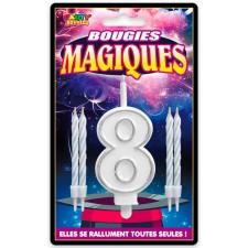 Bougie magique en forme de chiffre 8 qui ne s'éteint pas