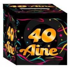 Urne en carton pour anniversaire 40 ans
