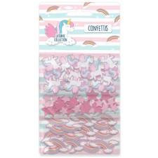 Confettis de table d'anniversaire licorne