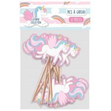 Pics décoratifs licorne pour amuse-bouches et gâteaux d'anniversaire