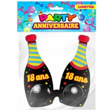 Lunettes bouteilles pour anniversaire 18 ans - accessoire