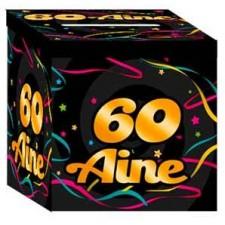 Urne pour cagnotte d'anniversaire 60 ans