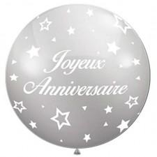 Ballon géant pour anniversaire couleur argent
