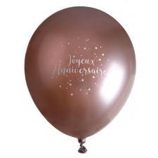 Ballons d'anniversaire en latex rose gold de 30 cm