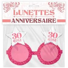 Lunettes 30 ans rose gold pour anniversaire