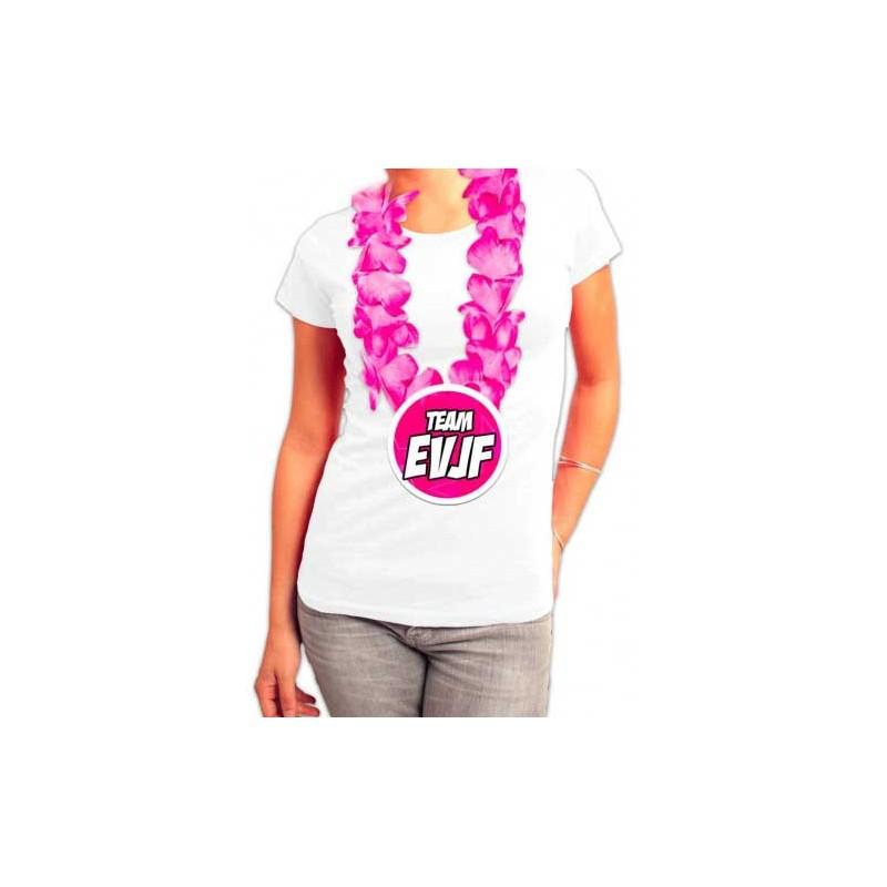 Accessoire EVJF collier hawaïen à fleures roses