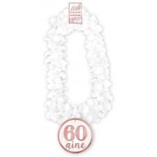 Collier à fleurs 60 ans rose gold accessoire anniversaire