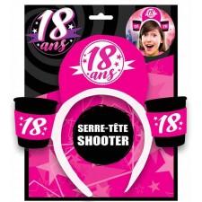 Serre-tête humoristique avec shooters accessoire pour anniversaire 18 ans