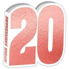 Livre d'or pour anniversaire 20 ans rose gold
