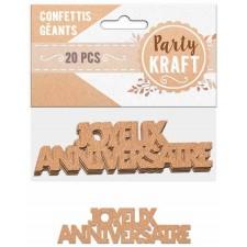 Confettis de table thème nature pour anniversaire
