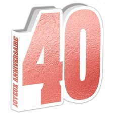 Livre d'or pour anniversaire 40 ans rose gold chic