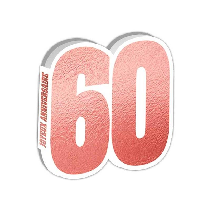 Livre d'or joyeux anniversaire 60 ans rose gold