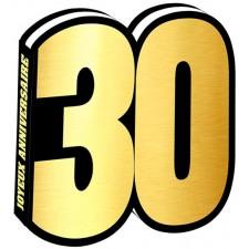Livre d'or 30 ans noir et or pour anniversaire chic