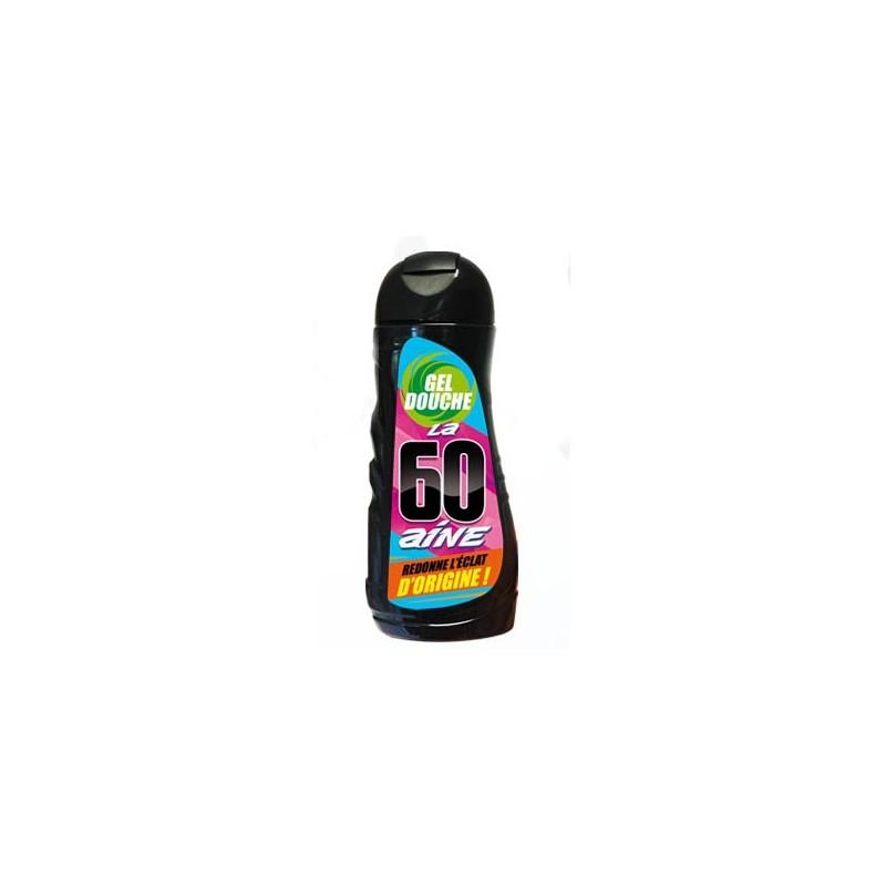 Cadeau humoristique gel douche pour anniversaire 60 ans